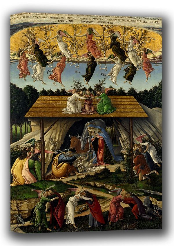 Botticelli, Sandro: The Mystical Nativity. Fine Art Canvas. Sizes: A4/A3/A2/A1 (001879)